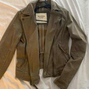 Abercrombie and Fitch Moto olive Jacket